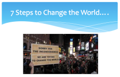 7 steps to change the world