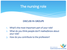 The nursing role